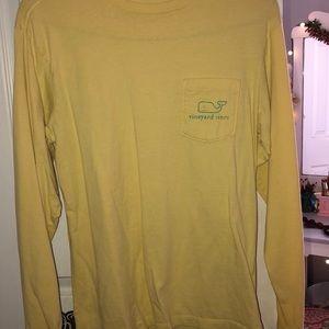 Yellow/Blue Vineyard Vine Shirt